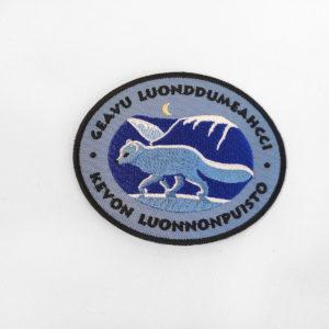 Kangasmerkki, Kevon luonnonpuisto. Logossa naali.