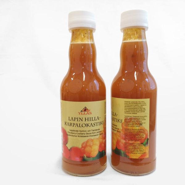 Hilla-karpalokastike pullo