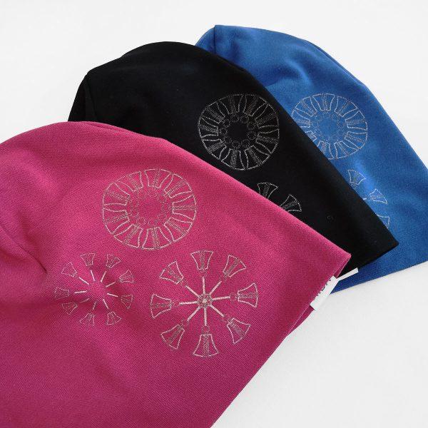 Korkeat trikoo nangupipot, pinkki, musta ja sininen