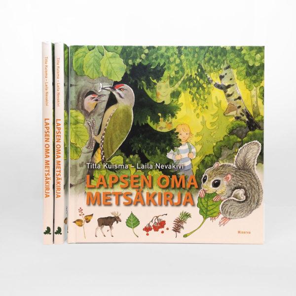Kirjan kansi lapsen oma metsäkirja